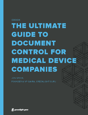 (cover) Ultimate Guide to Document Control for Medical Device Companies