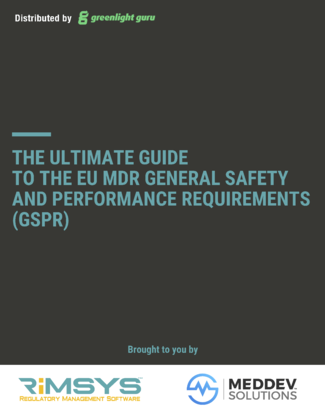 (cover) Ultimate Guide to EU MDR GSPR