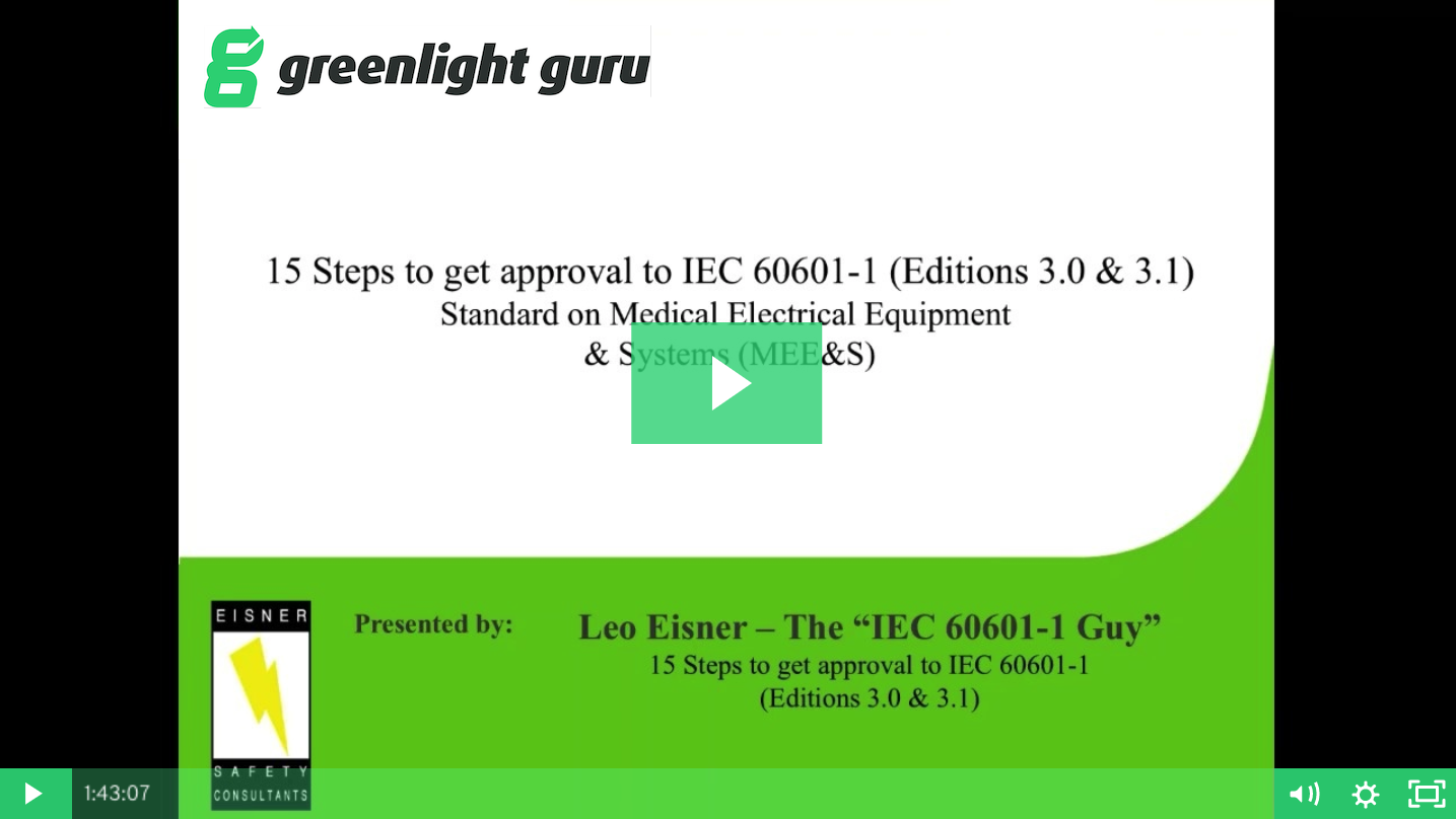 15 Steps To Getting Approval For Iec 60601 1