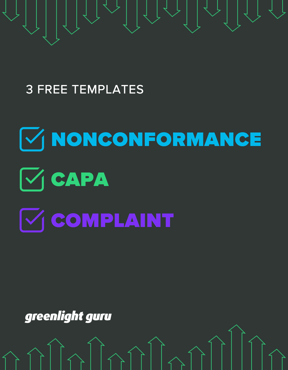 3 Free Templates for NC, CAPA, Complaint slide-in cover