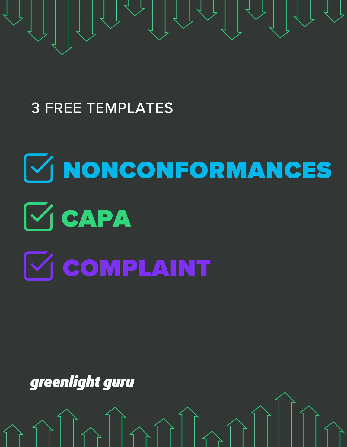 3 Free Templates for NC, CAPA, Complaints slide-in cover