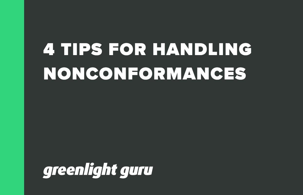 4 TIPS FOR HANDLING NONCONFORMANCES-1
