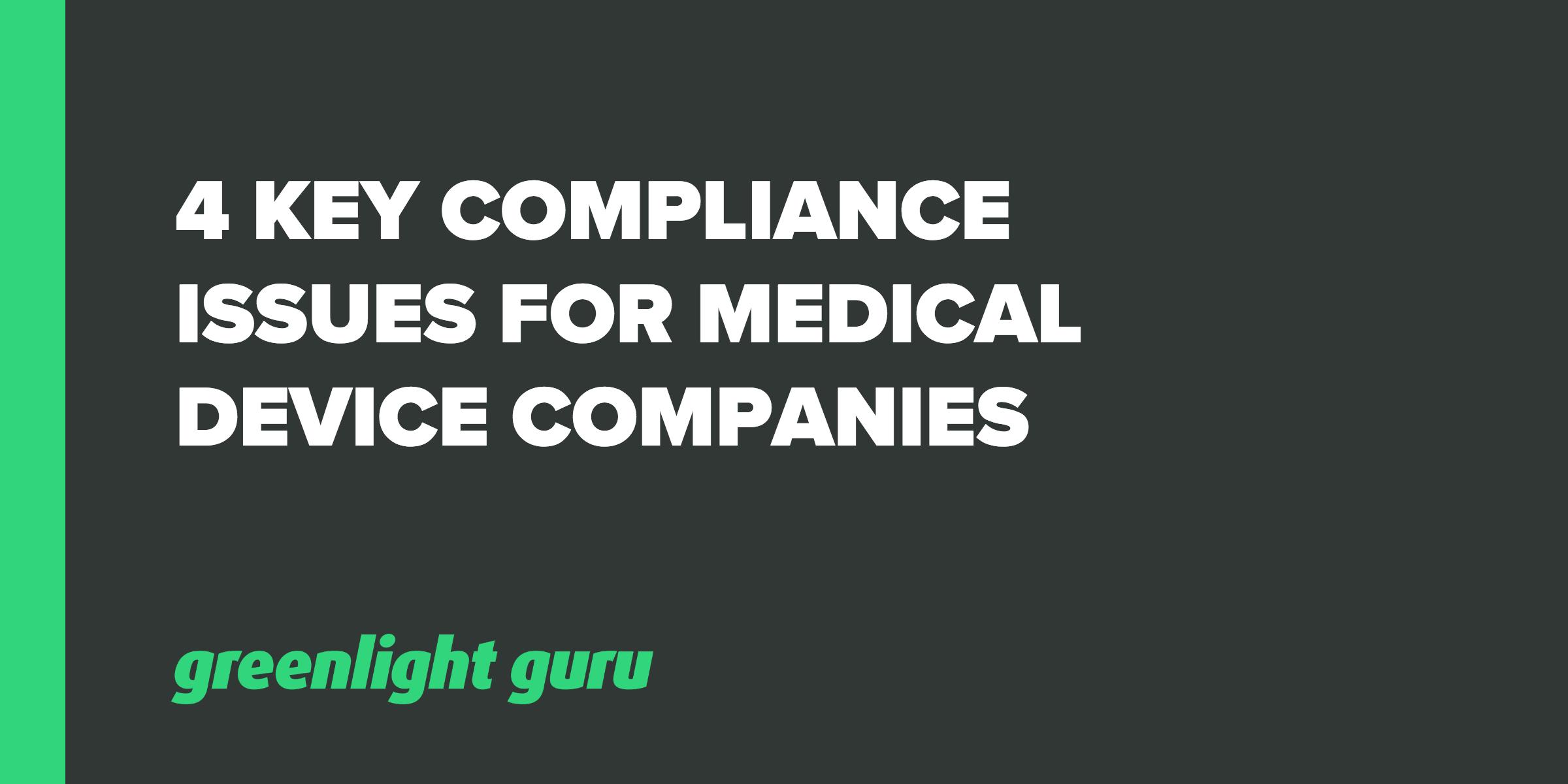 4 key compliance