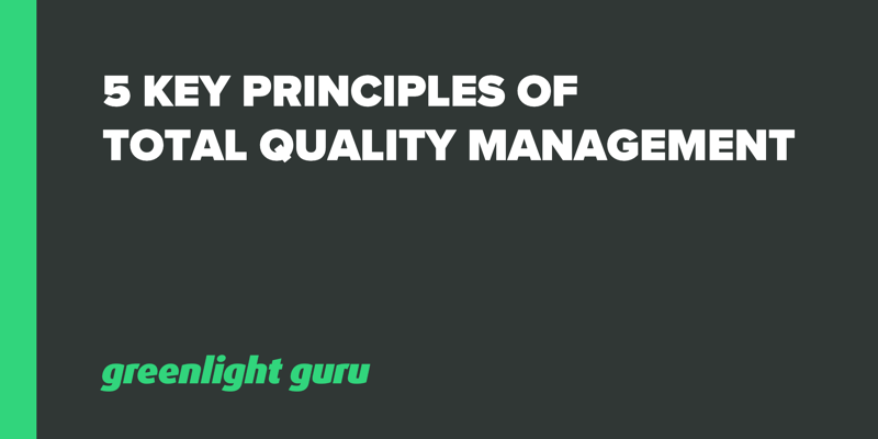 5 Key Principles of Total Quality Management