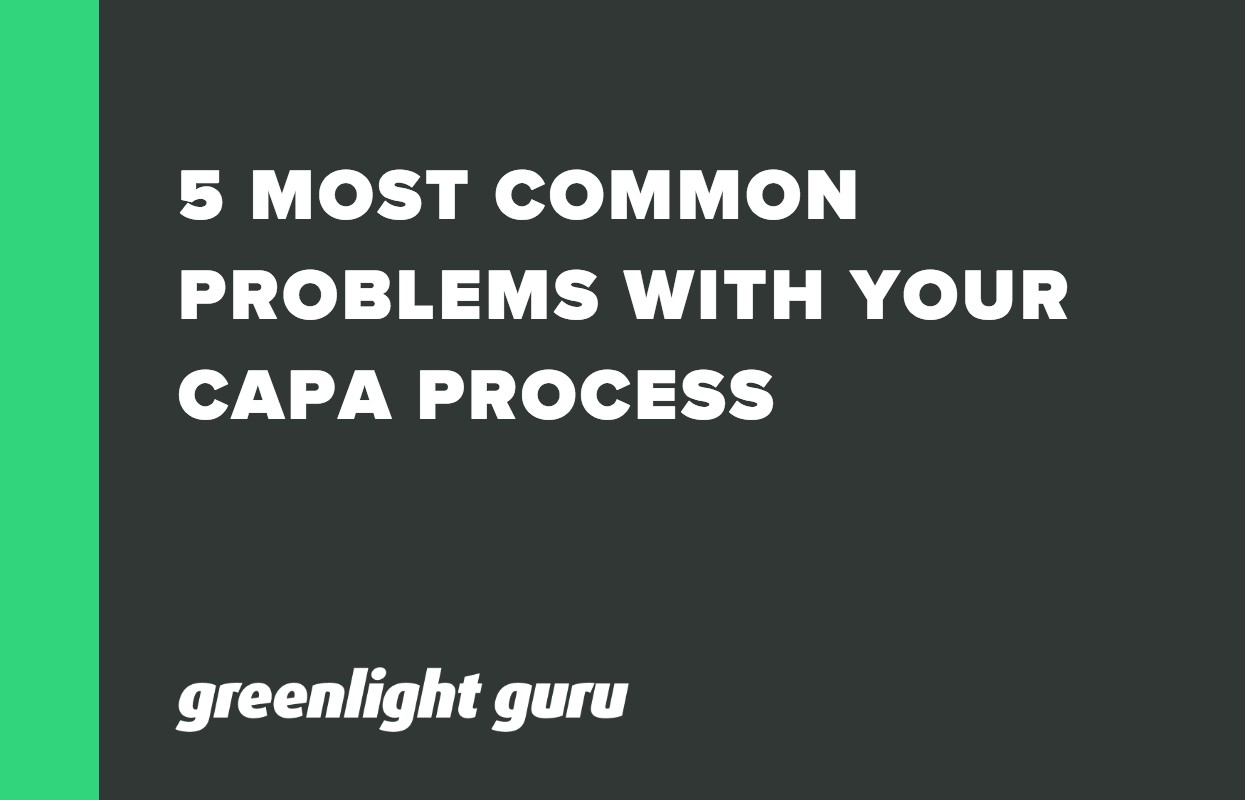 5 MOST COMMON PROBLEMS WITH YOUR CAPA PROCESS