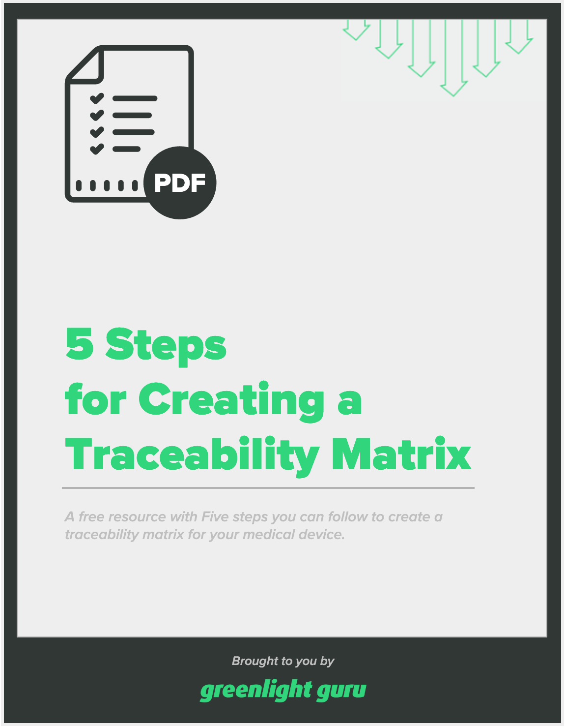 5 Steps for Creating a Traceability Matrix - slide-in cover
