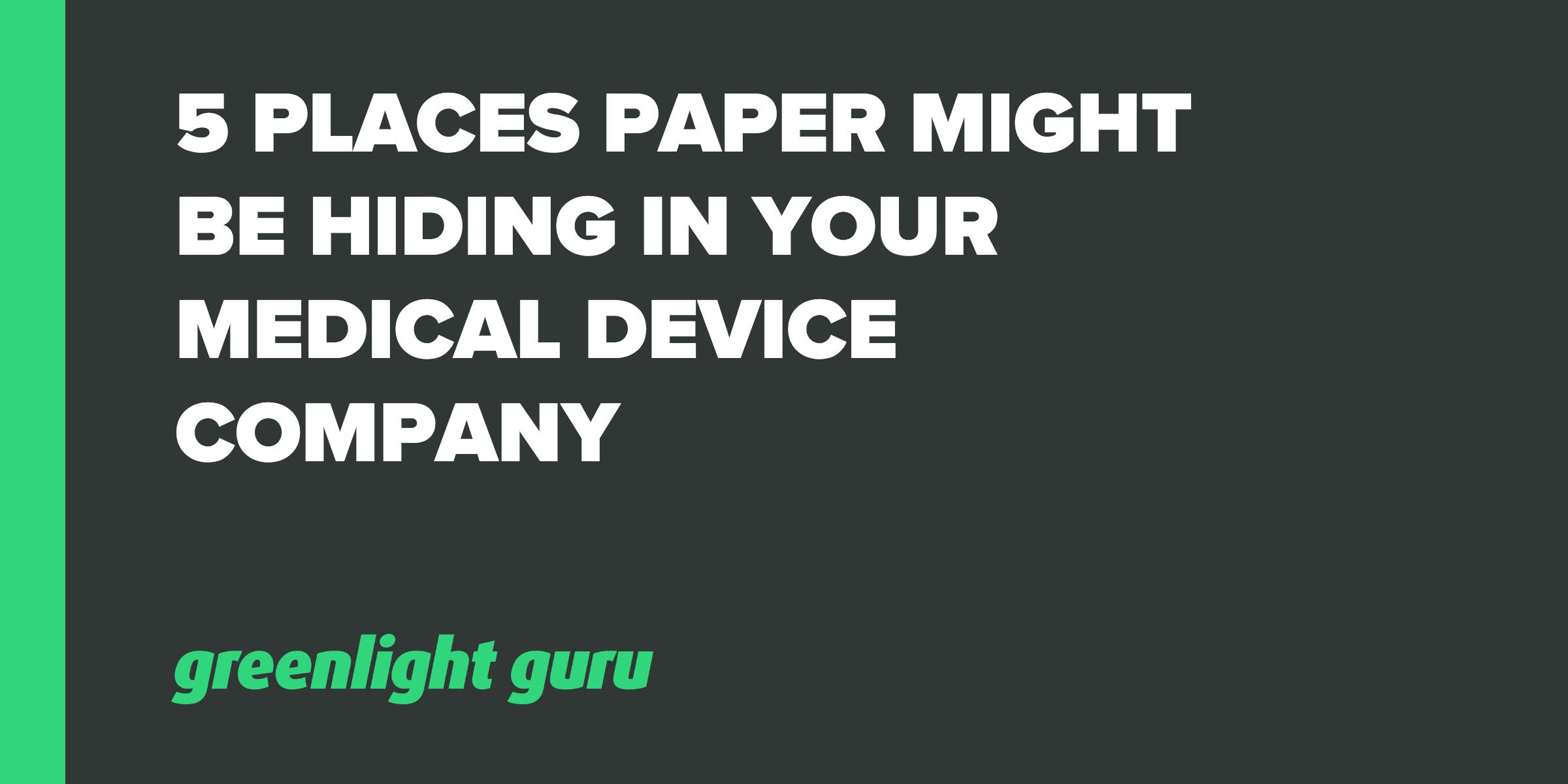 5 places paper hiding