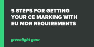 5 steps for getting your CE marking with EU MDR requirements