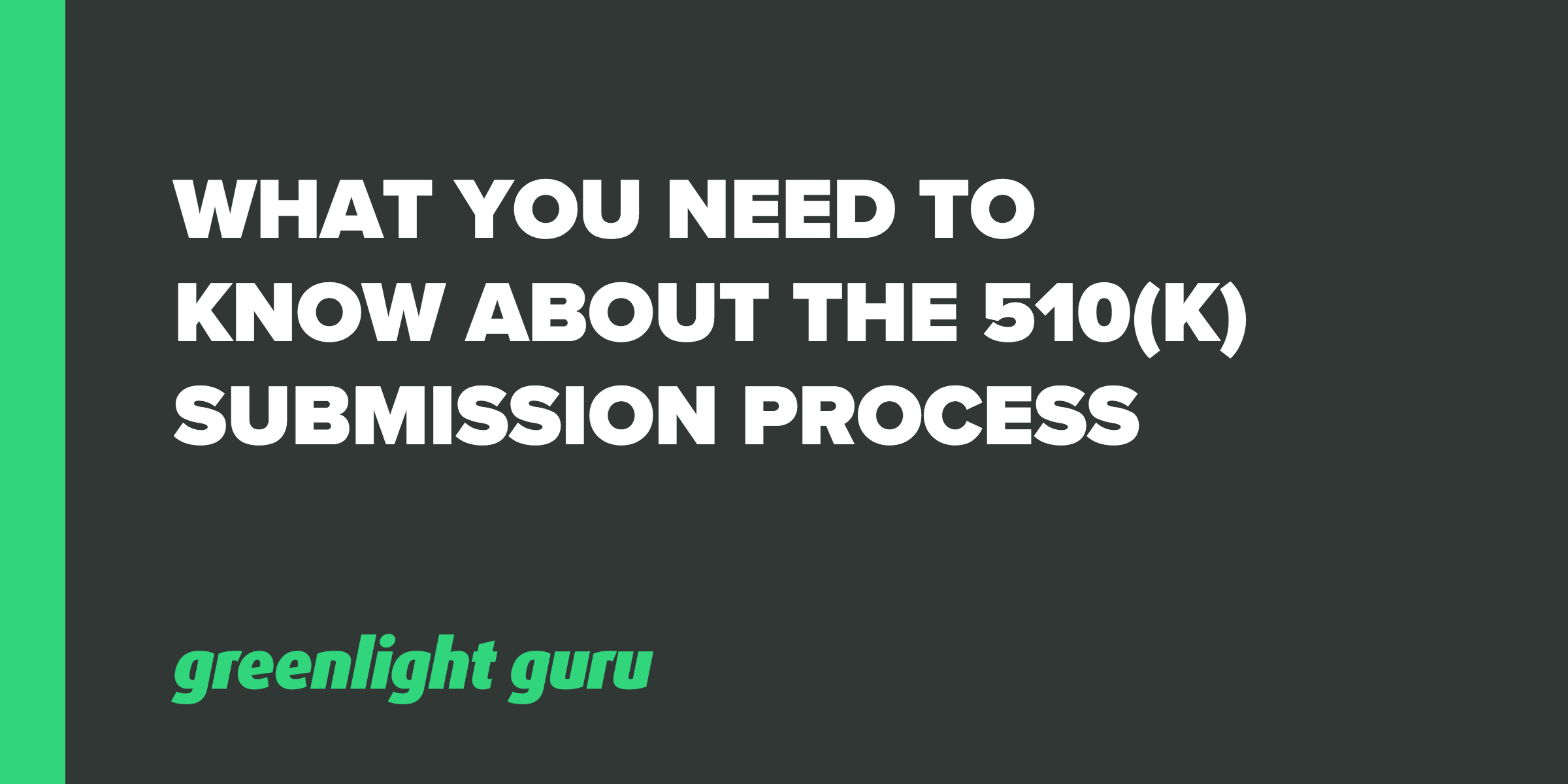 510k submission process