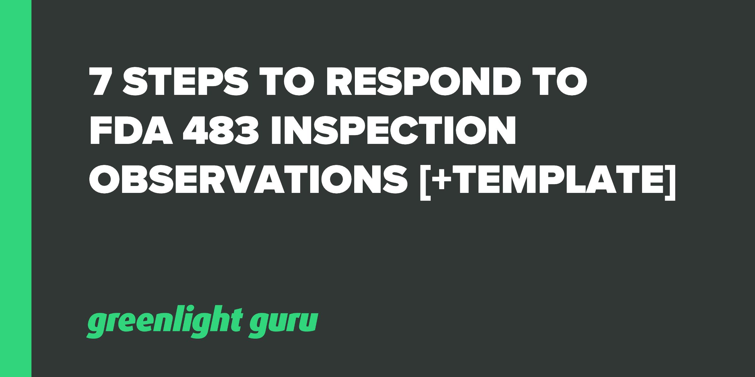 7 steps to respond 483 obs