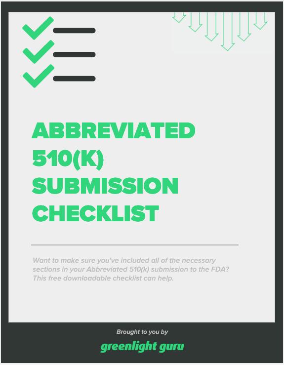 Abbreviated 510(k) Submission Checklist-1