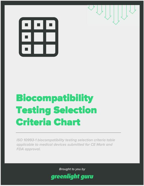 Biocompatibility Testing Selection Criteria Chart - slide-in cover-1
