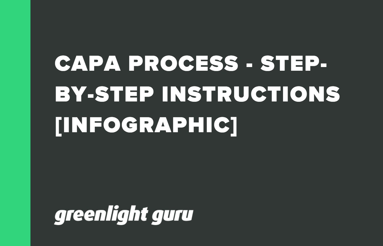 CAPA PROCESS - STEP-BY-STEP INSTRUCTIONS [INFOGRAPHIC]