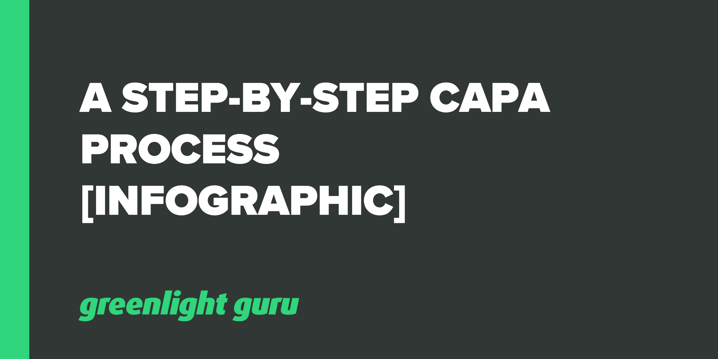 CAPA Process - Step-by-Step Instructions [Infographic] - Featured Image