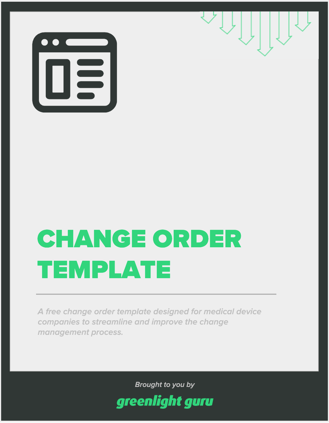 Change order template - slide-in cover