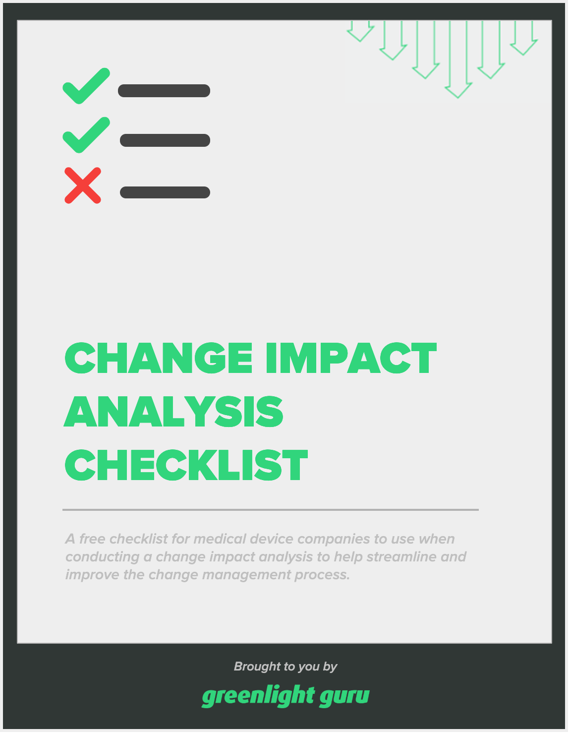 Checklist for Change Impact Analysis - slide-in cover