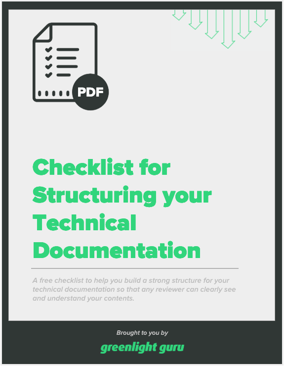 Checklist for Structuring your Technical Documentation - slide-in cover