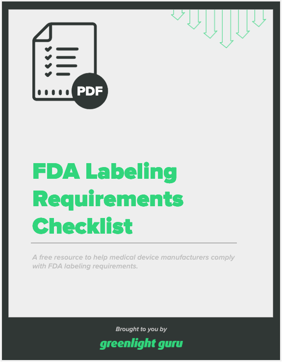 FDA Labeling Requirements Checklist - slide-in cover