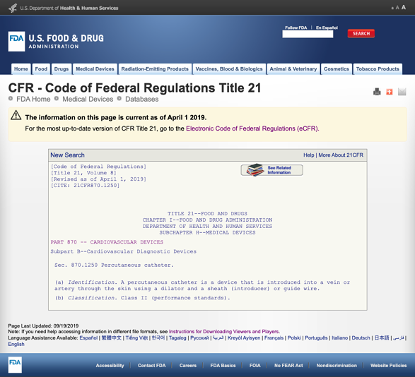 FDA-classification-part-870.1250