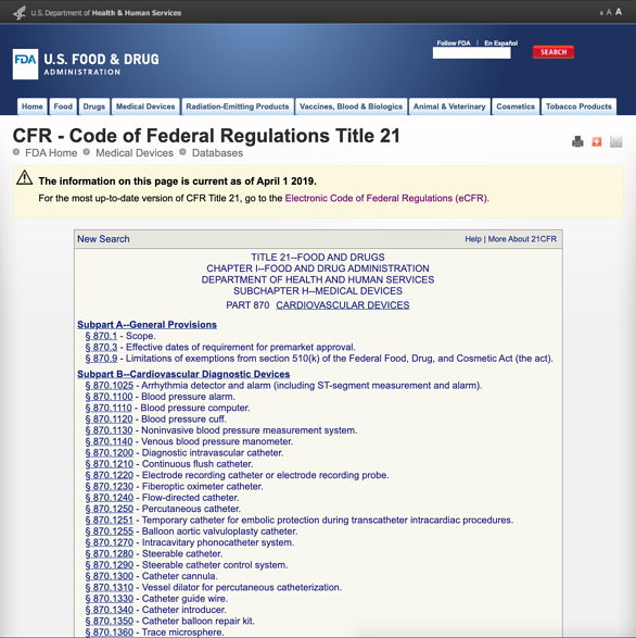 FDA-classification-part-870