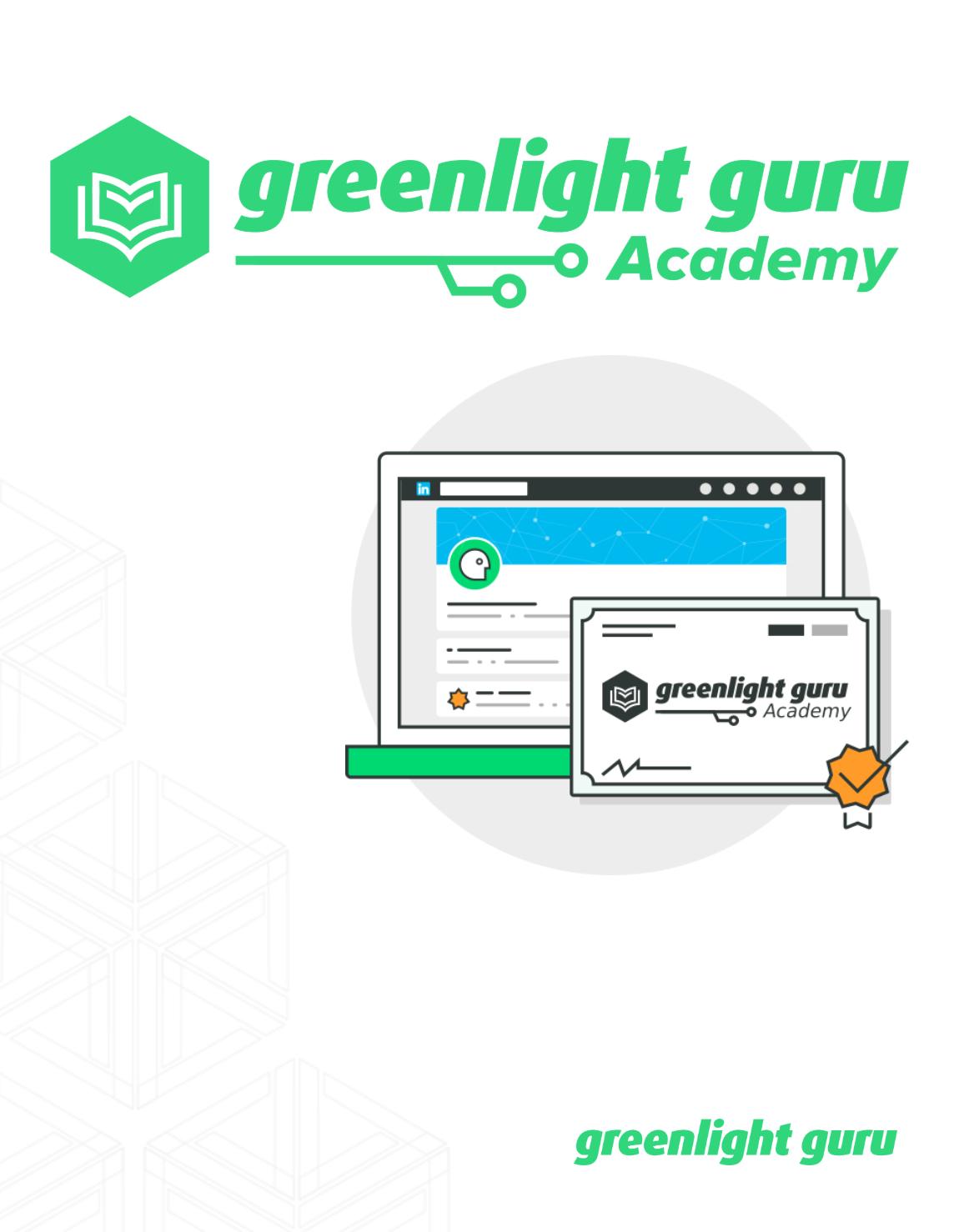 Greenlight Guru Academy - slide-in cover