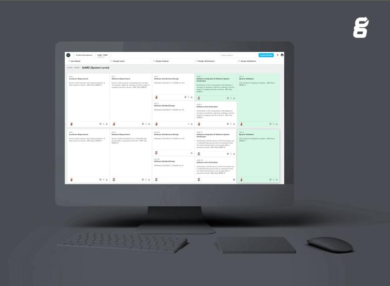Greenlight Guru SaMD software screen