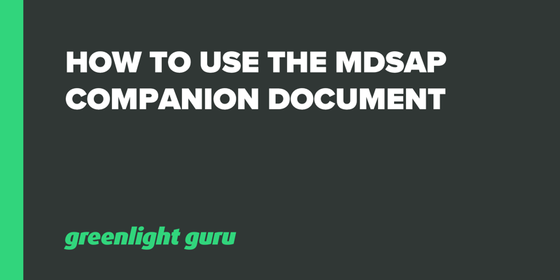 How to Use the MDSAP Companion Document