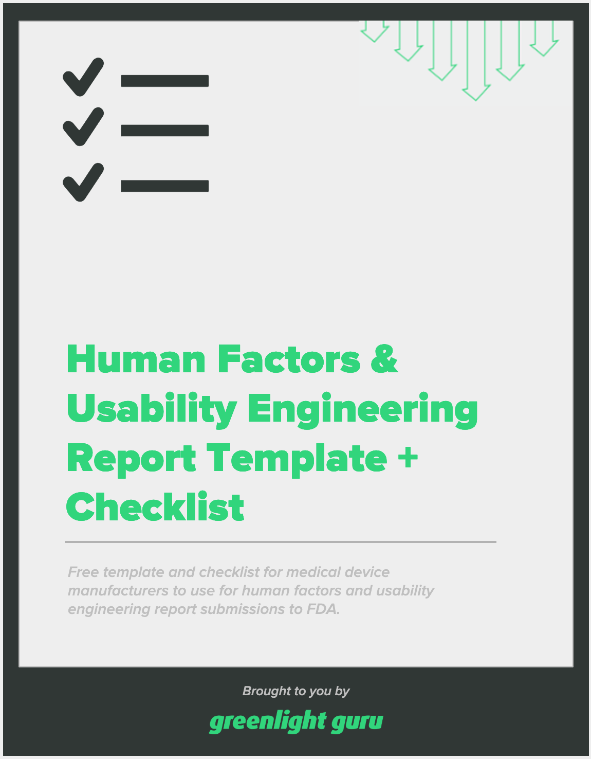 Human Factors & Usability Engineering Report Template + Checklist - slide-in cover