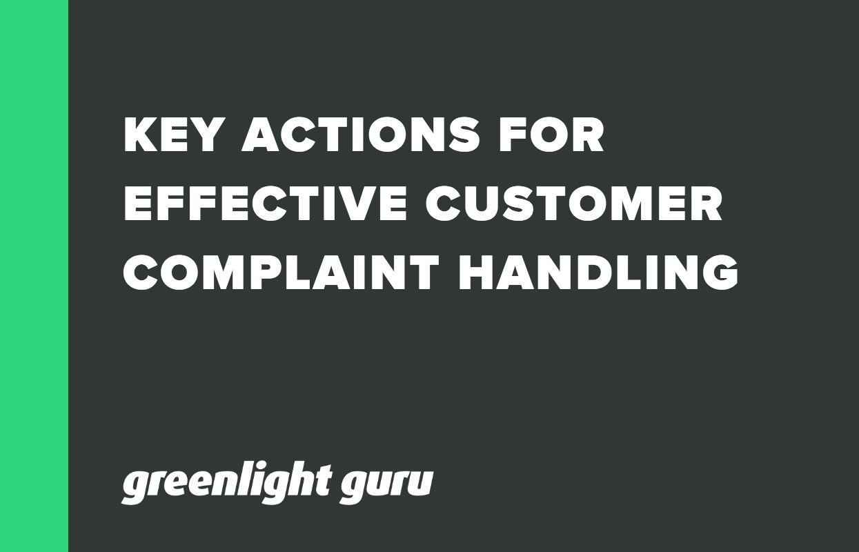 Key Actions for Effective Customer Complain Handling