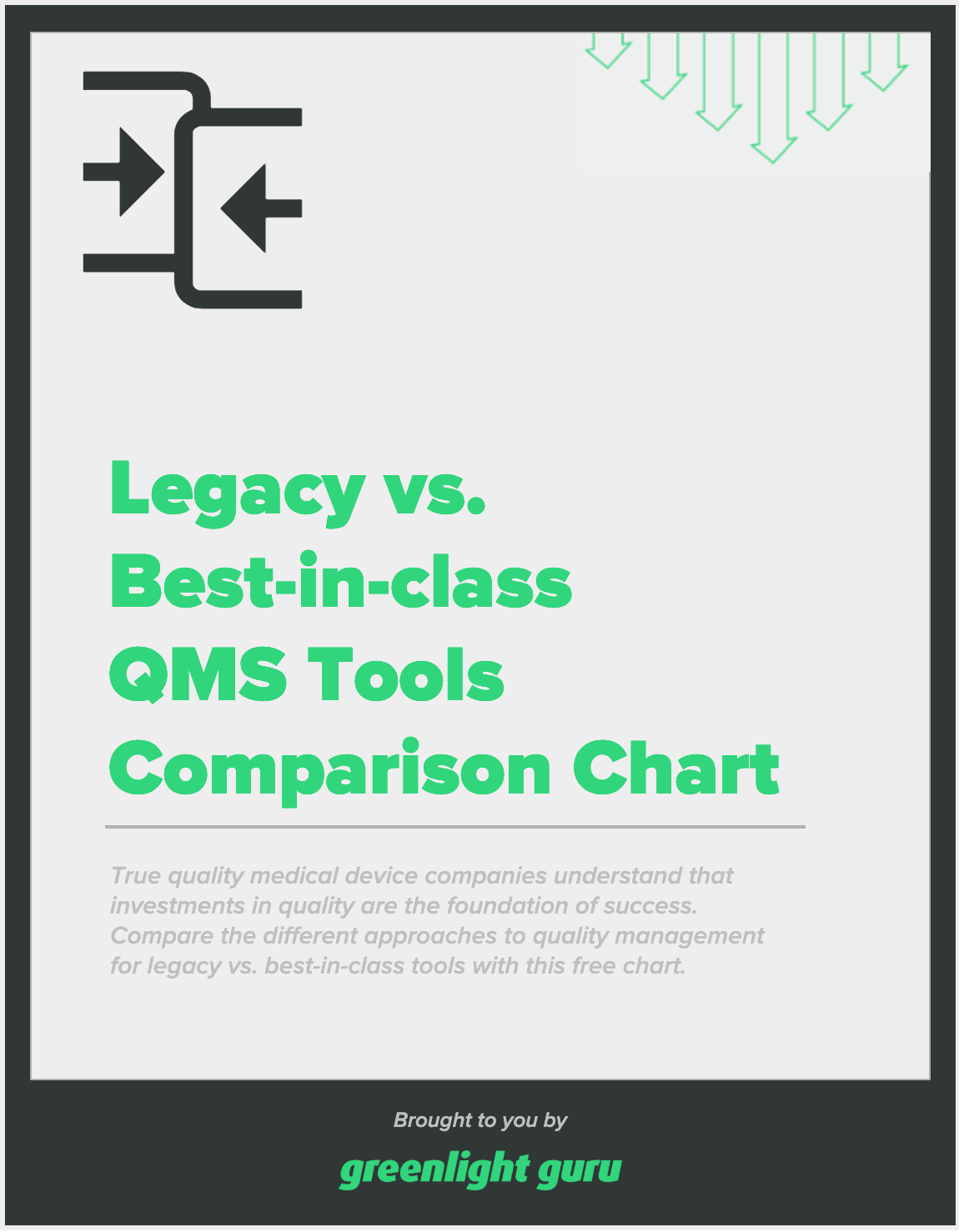 Legacy vs Best-in-Class QMS Tools Comparison Chart - slide-in cover