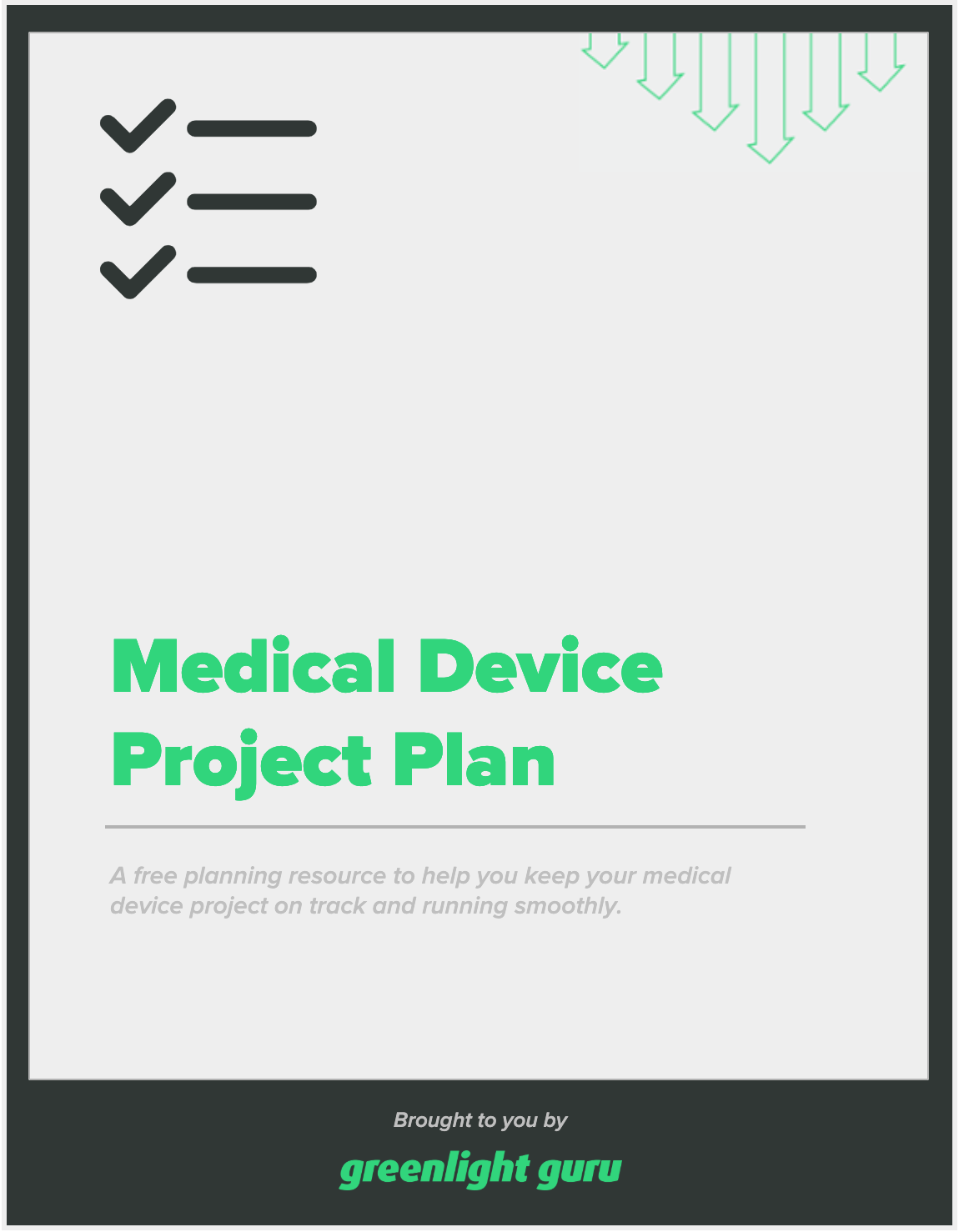 Medical Device Project Plan - slide-in cover