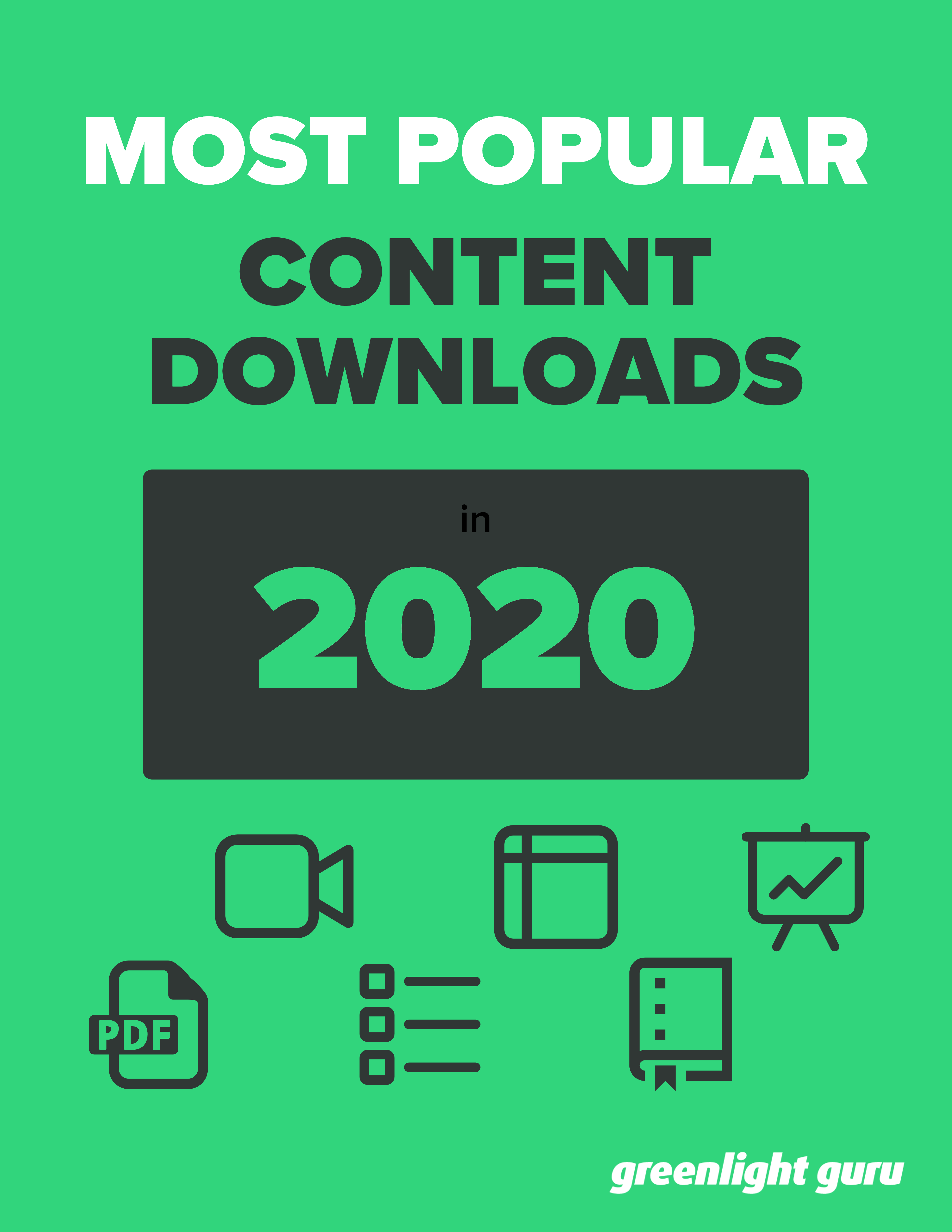 Most popular content downloads in 2020 - slide-in cover