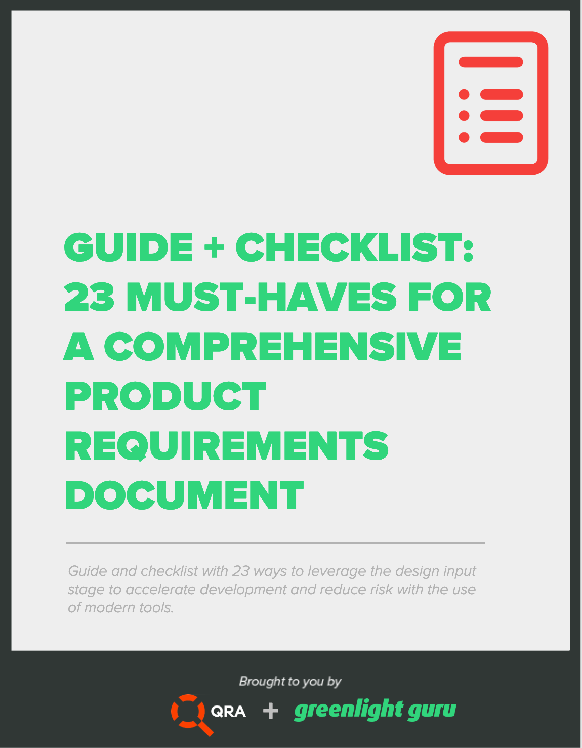 QRA free download CTA - 23 must-haves guide + checklist