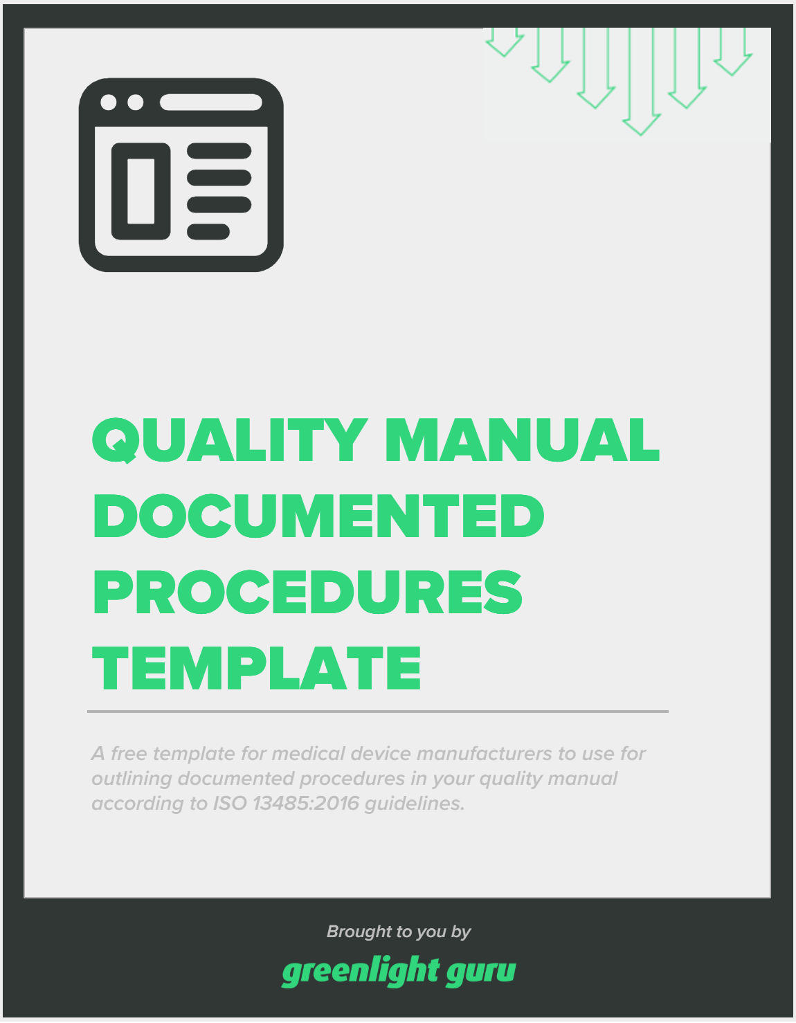 Quality Manual Documented Procedures Template - slide-in cover (1)