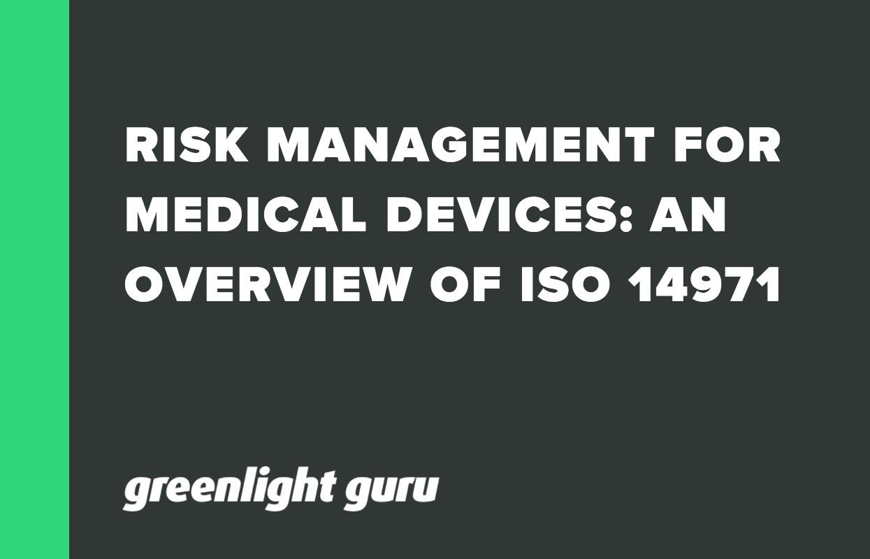 RISK MANAGEMENT FOR MEDICAL DEVICES_ AN OVERVIEW OF ISO 14971