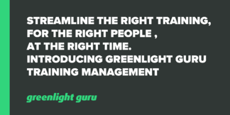Streamline the right training, for the right people, at the right time. Introducing Greenlight Guru Training Management - Featured Image