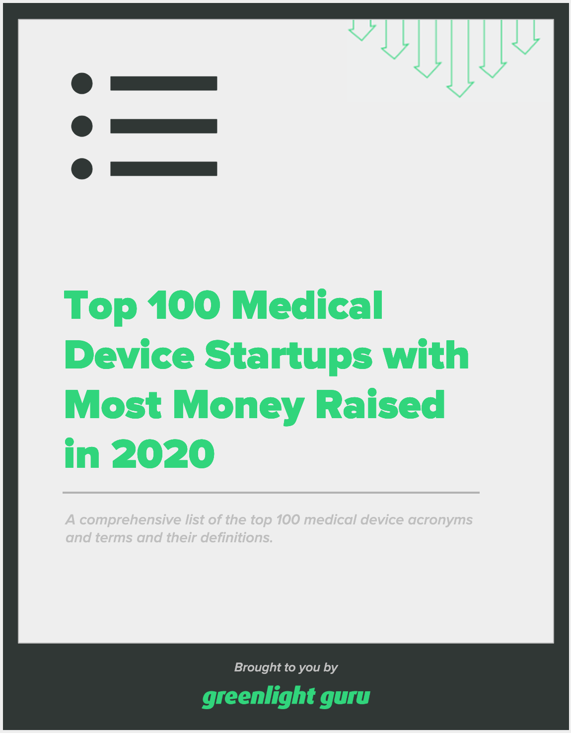 Top 100 Medical Device Startups with Most Money Raised in 2020 - slide-in cover
