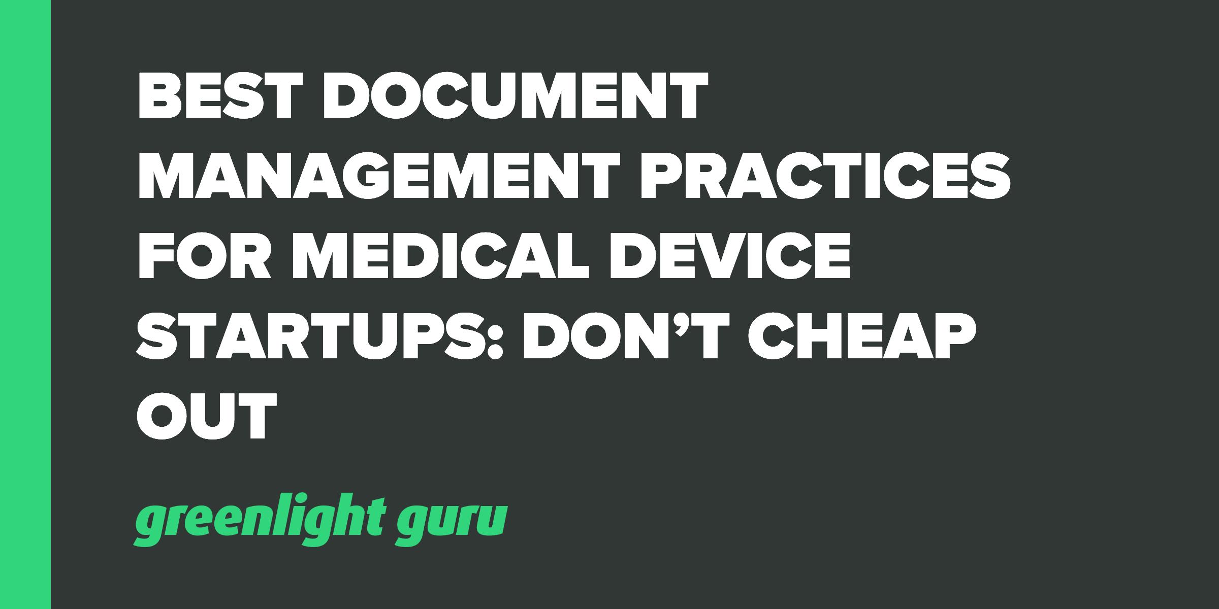 best doc management practices