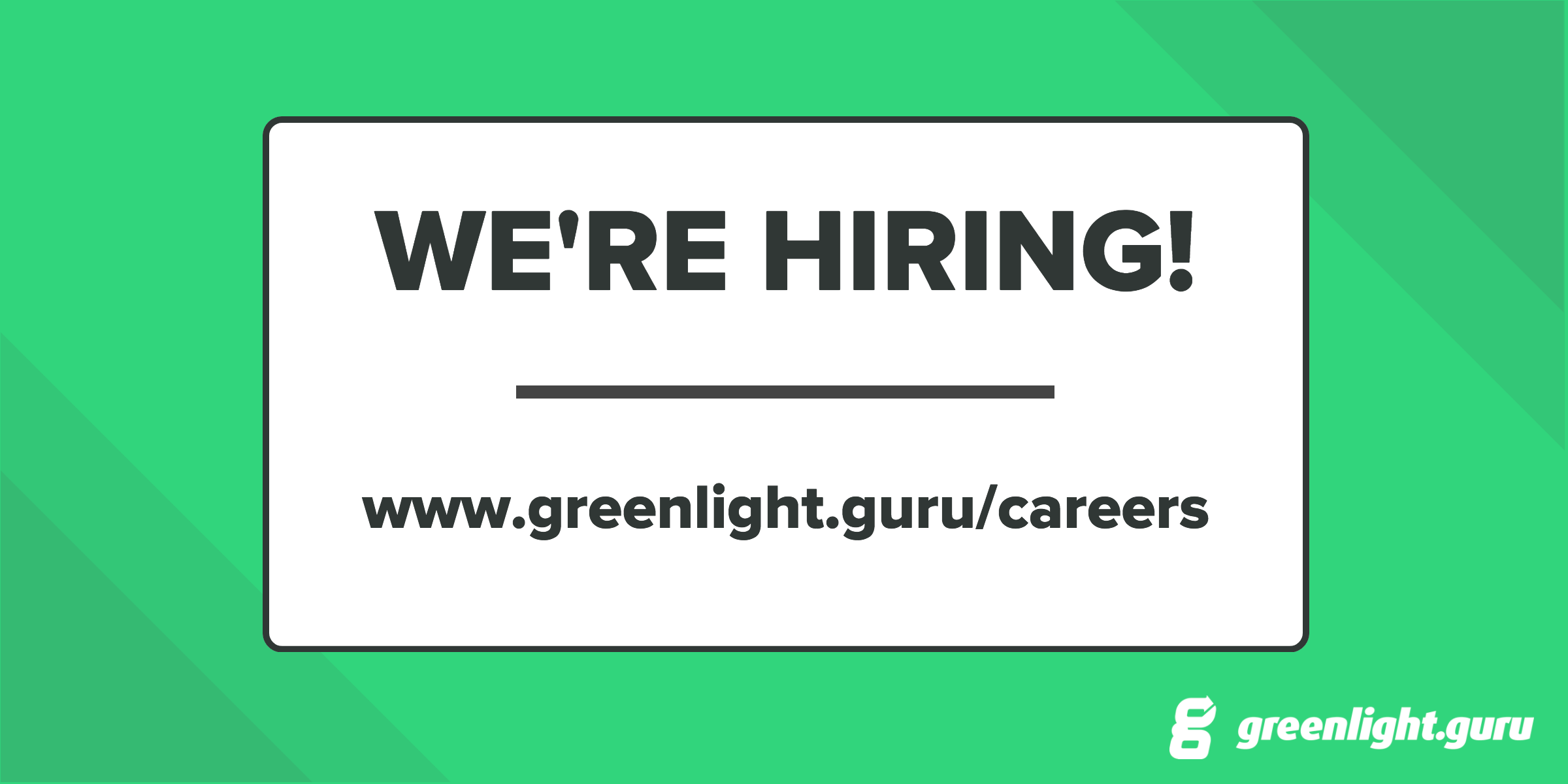 Looking to join a fun, fast growing SaaS company? Greenlight Guru is hiring in all areas (Again)! - Featured Image