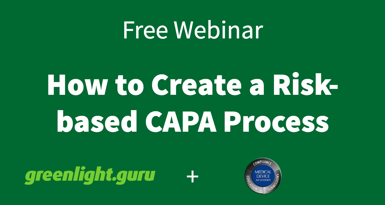 Risk-based CAPA Process