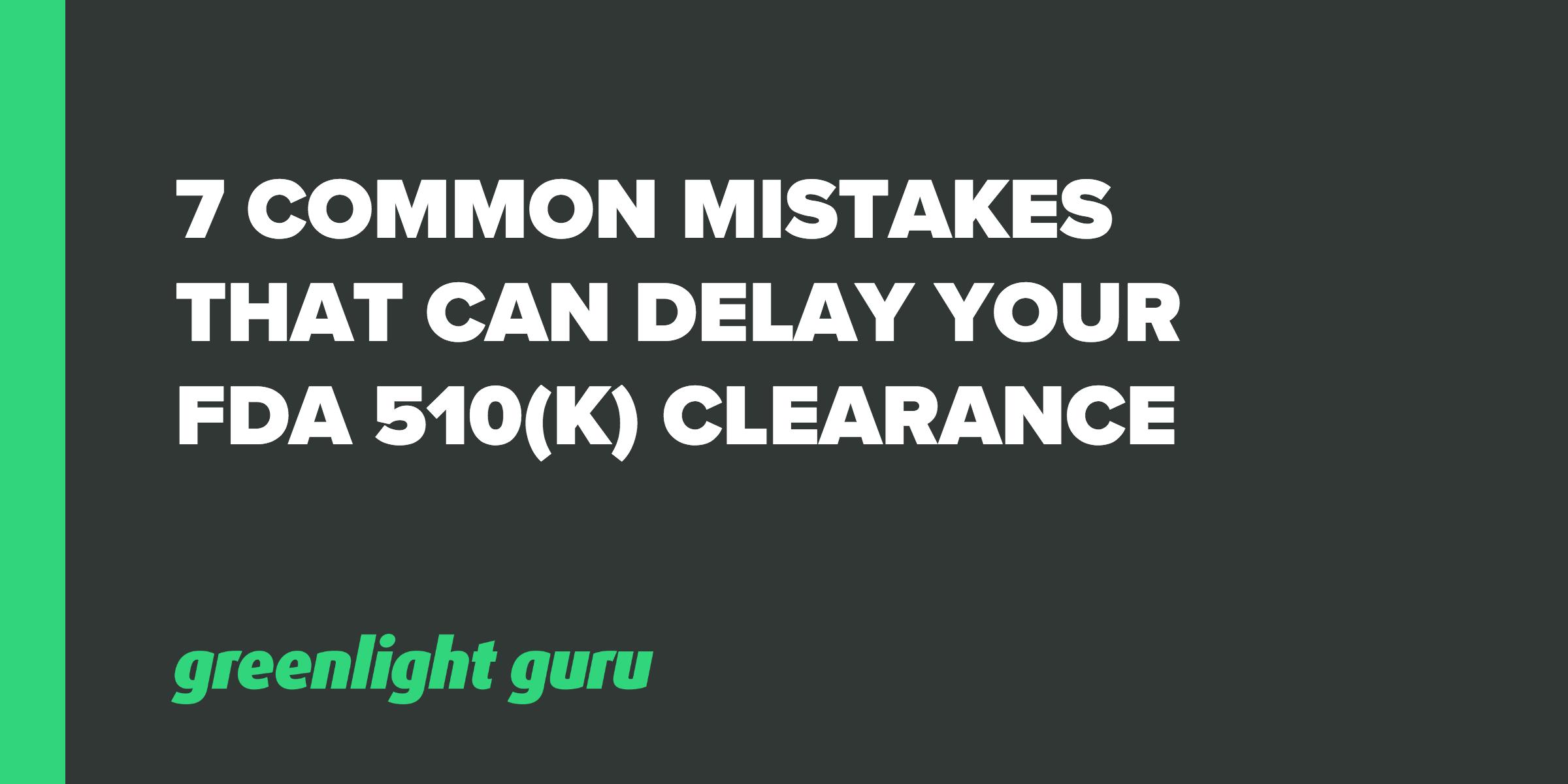 delay fda clearance