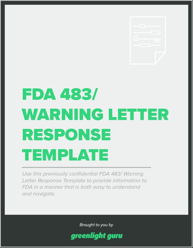 fda 483-warning-letter-response-tempalte