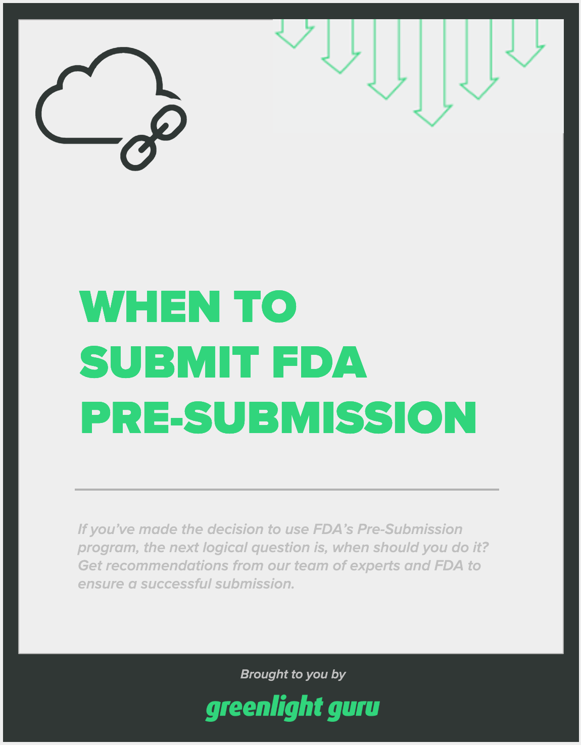 when to submit FDA pre-submission