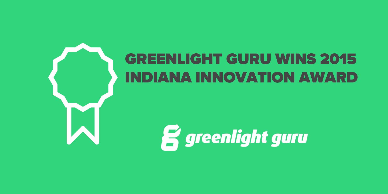 greenlight guru Wins 2015 Indiana Innovation Award - Featured Image