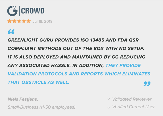 customer-review-greenlight-guru-medical-device-qms-software-vendor-software-validation