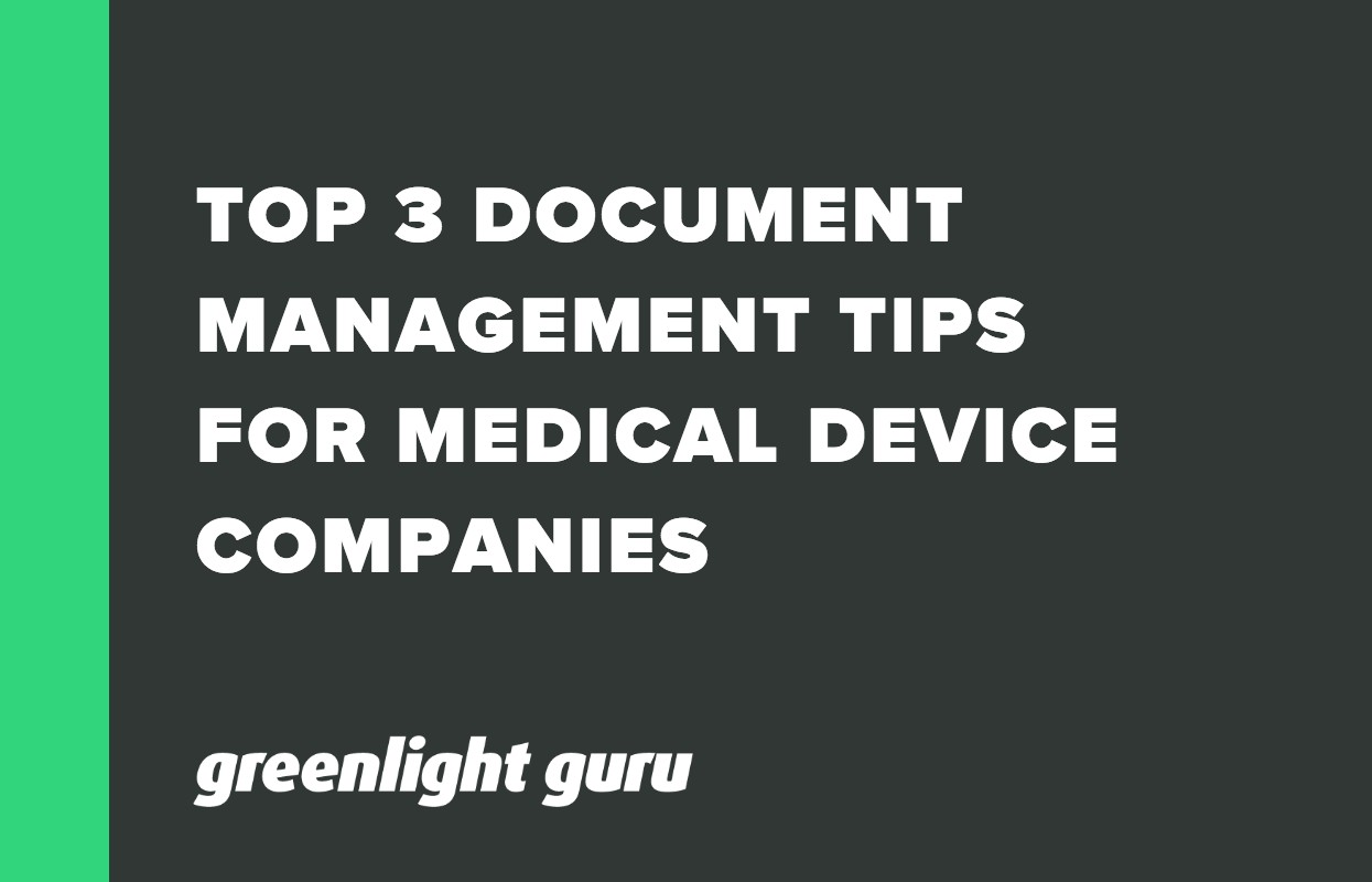 Top 3 Document Control Tips