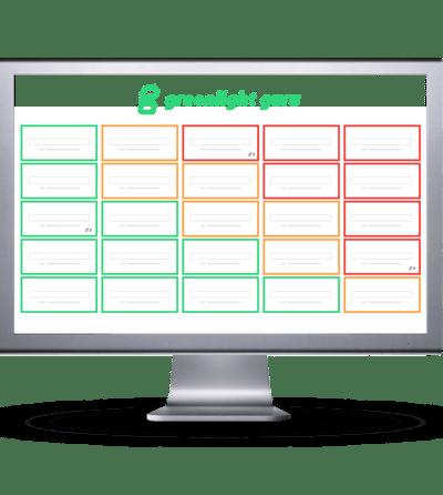 risk software on screen - slide-in
