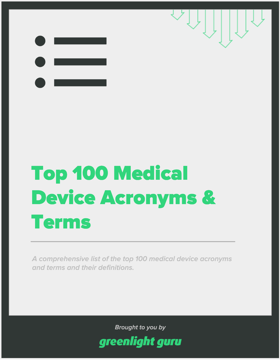 top 100 med device acronyms slide-in cover