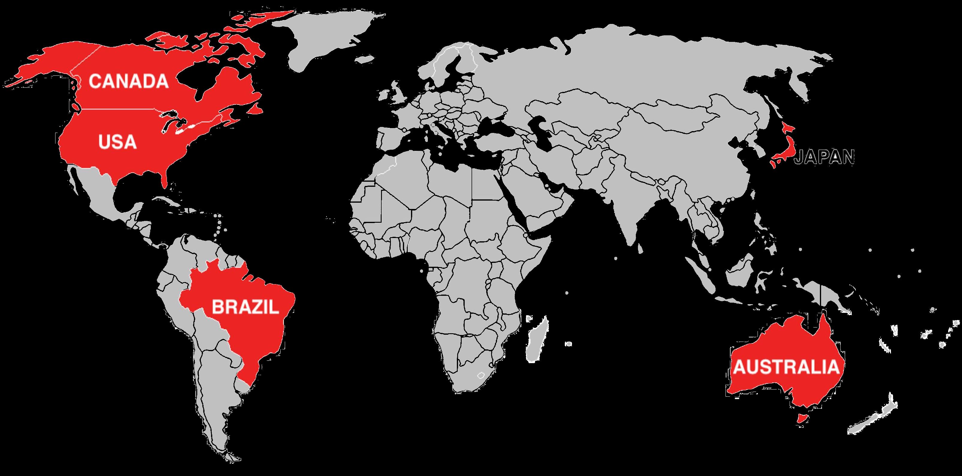 world map RAs