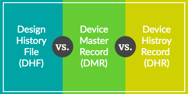 Design History File (DHF) vs. Device Master Record (DMR ...